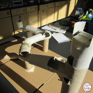 STEM Challenge: It's all about Marble Runs! Read about our experience and try this in your classroom! Easy, easy, materials that are just about all free. Very little preparation. Total engagement!