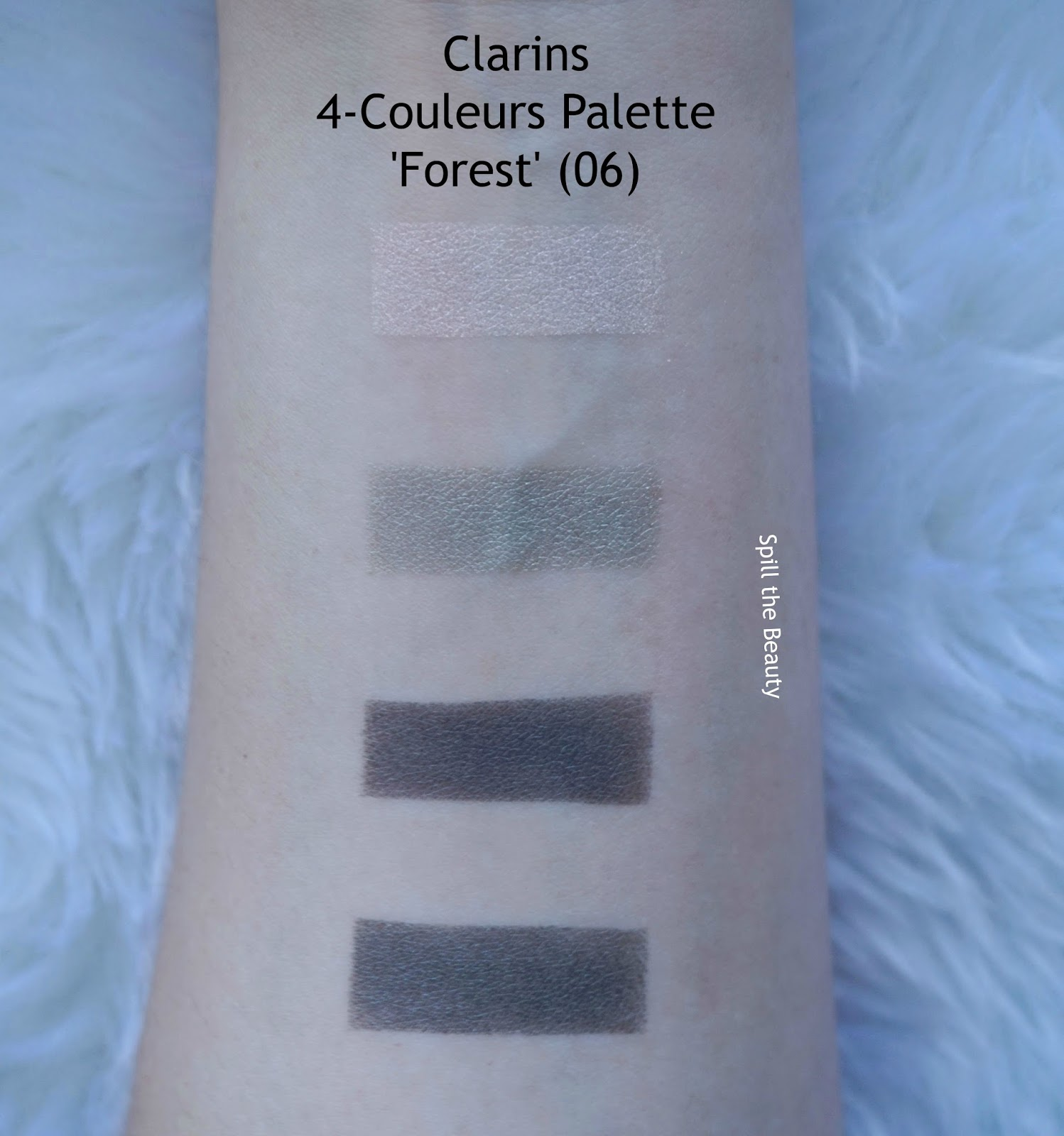 clarins fall 2017 review swatches 4 couleur eyeshadow palette forest