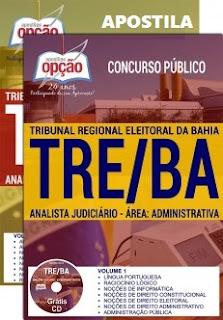 Apostila TRE da Bahia Analista judiciário 2017.