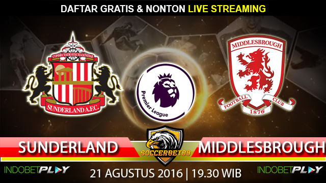 Prediksi Sunderland vs Middlesbrough 21 Agustus 2016 (Liga Inggris)