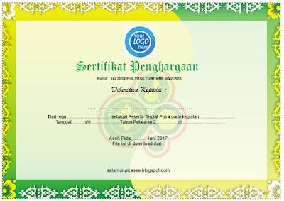Download Contoh Desain Sertifikat Dan Piagam Keren Gratis File Berkas