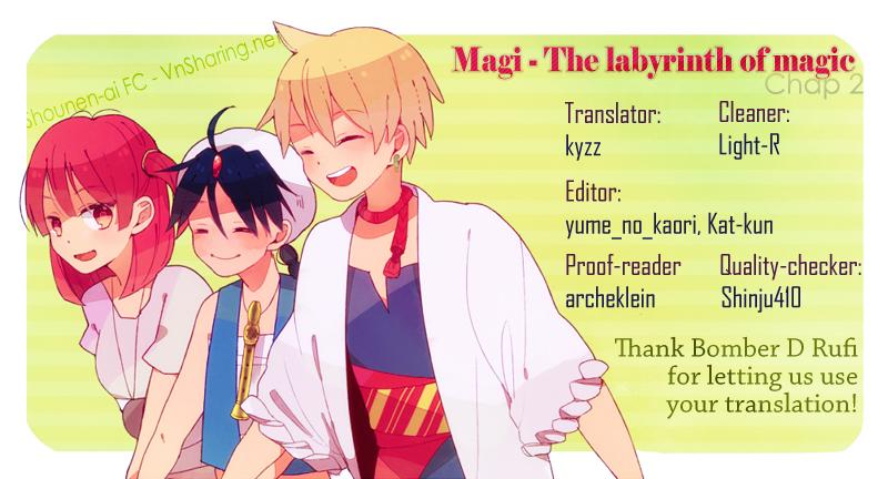 Magi The Labyrinth of magic chapter 2 trang 1