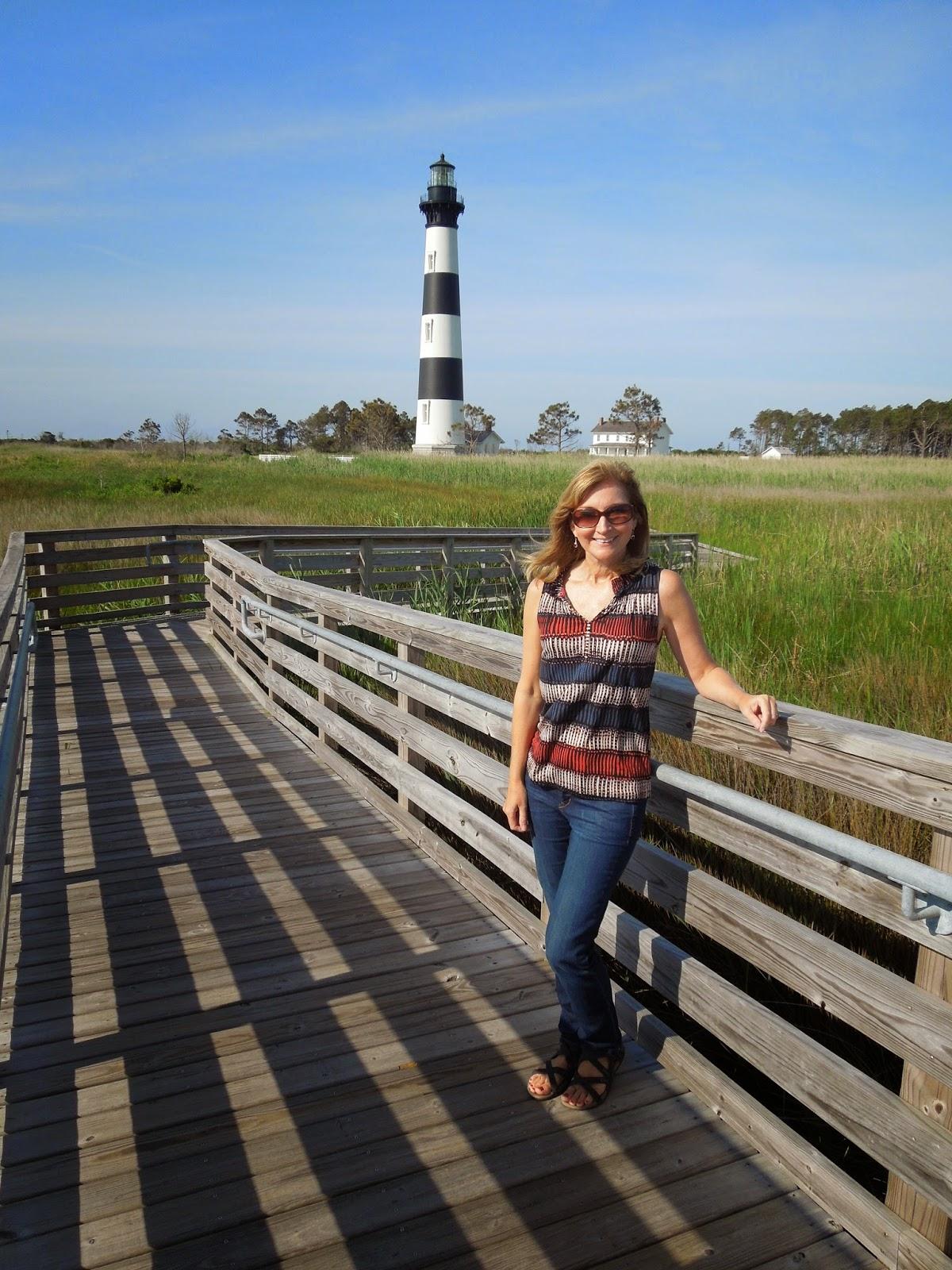 Susan at lighthouse