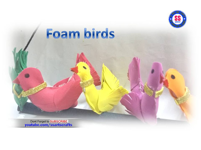 Here is how to make birds,artificial birds making with foam,birds making with waste material,stuffed birds making,birds making for home decoration,how to make paper bird,how to make yarn bird making,how to make birds very easy,how to make foam birds for decoration ssartscrafts youtube channel videos