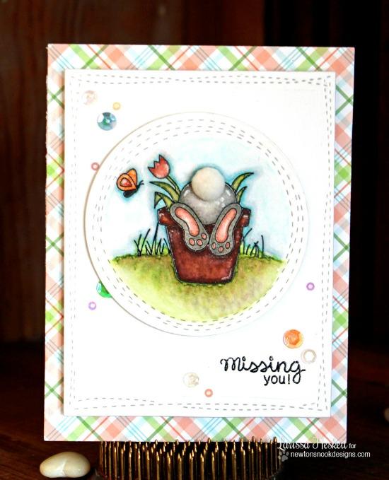 Bunny Butt card by Larissa Heskett | Bunny Hop Stamp set by Newton's Nook Designs #newtonsnook #bunny