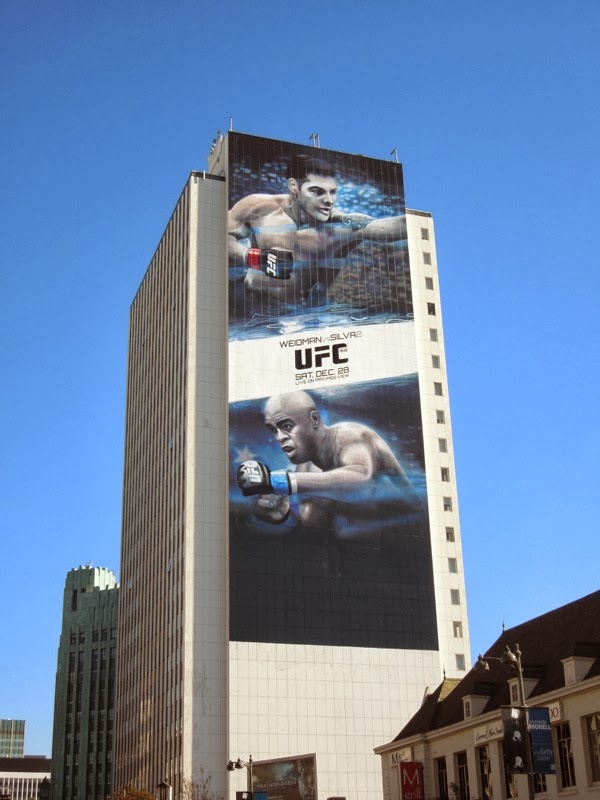 Giant UFC Weidman vs Silva 2 billboard
