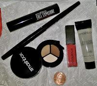Smash Box eyeshadow tri vanilla sable sumatra disco rose liquid lipsick primer monistat dupe chafing gel mascara