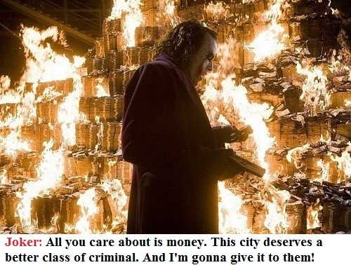 joker quote about money