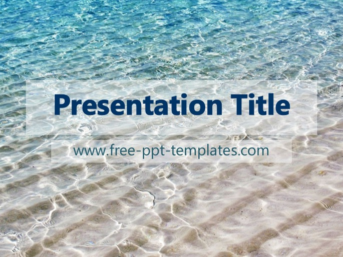 Sea ppt template toneelgroepblik Images