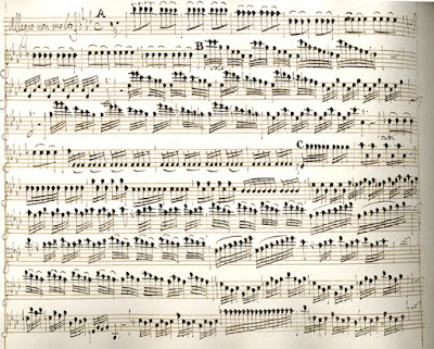 """Vivaldi's manuscript of the Inverno, or """"Winter"""" from the """"Four Seasons"""""""