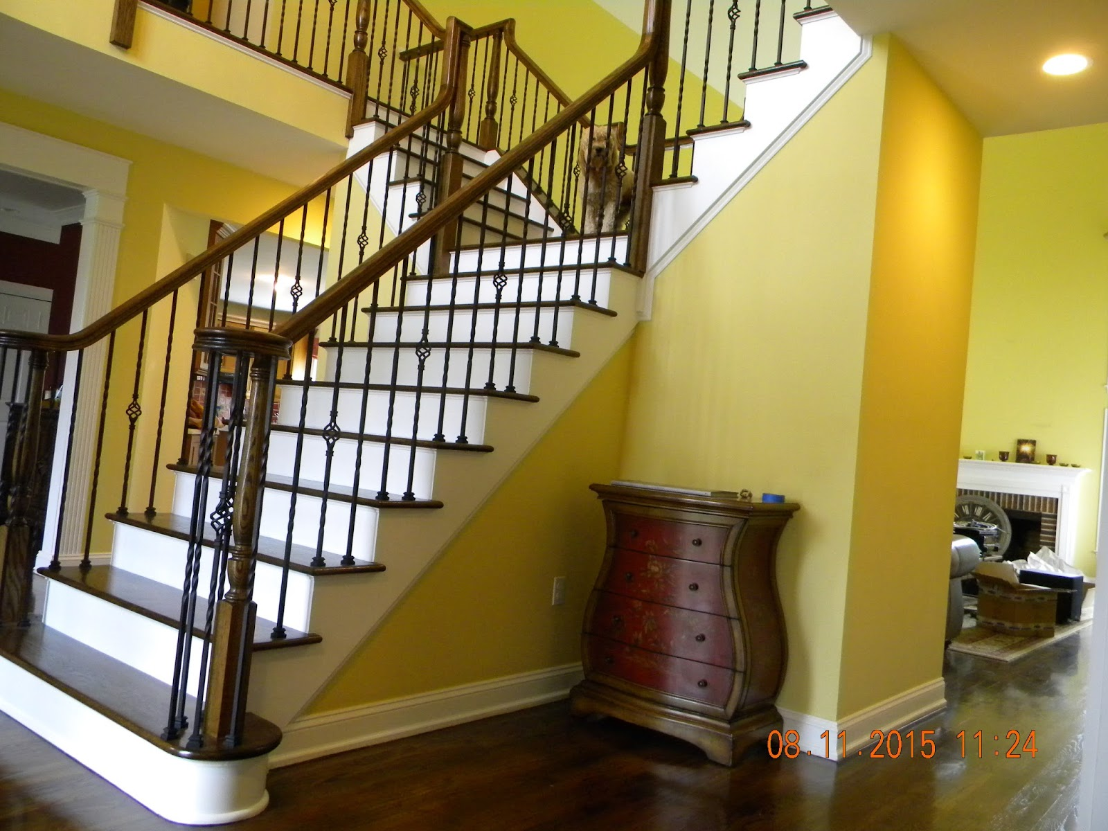 Wood Stairs and Rails and Iron Balusters: Install Iron ...