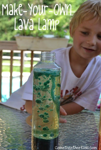 """Come Together Kids: Make-your-own """"Lava"""" Lamp"""
