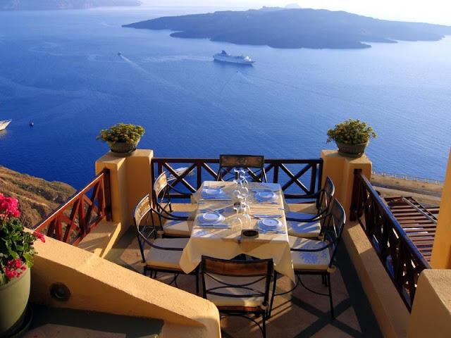 Restaurantes românticos em Santorini