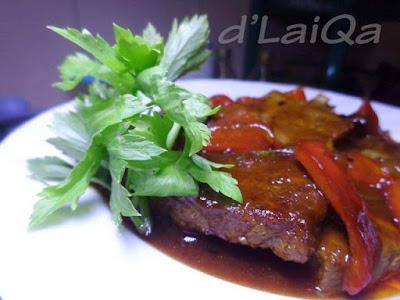 Daging Sapi Saus Barbeque ala Rika (2)