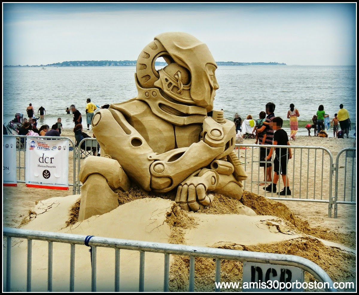 "Revere Beach 2014 National Sand Sculpting Festival: ""War-My Heart Tells Me Otherwise"""