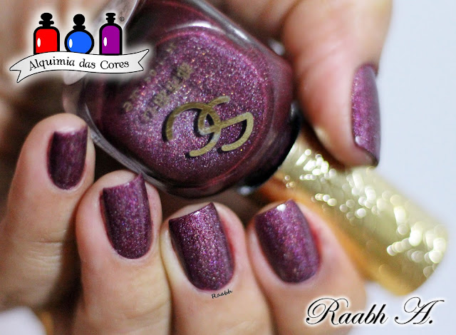 Semana Made in China, Raabh A. 2018, Esmalte Holográfico, Sweet City MDS 05, unhas carimbadas,
