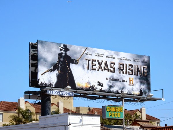 Texas Rising History miniseries billboard