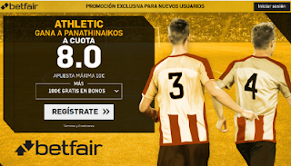 betfair supercuota victoria de Atheltic al Panathinaikos europa league 17 agosto