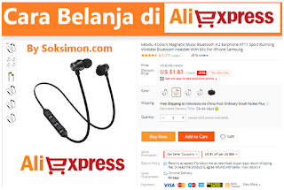 Cara belanja di Aliexpress melalui bank transfer