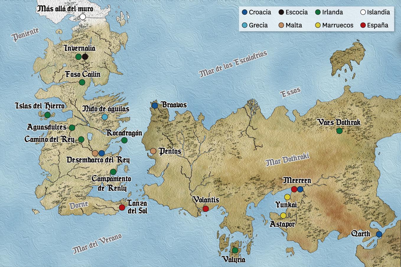 Desembarco Del Rey Mapa.Hoja De Rutas Blog De Viajes Los Escenarios Reales De
