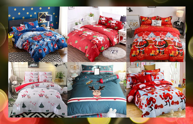 Rosegal  christmas Bedding Sets