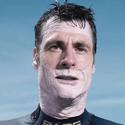 fotomontaje hombre rostro