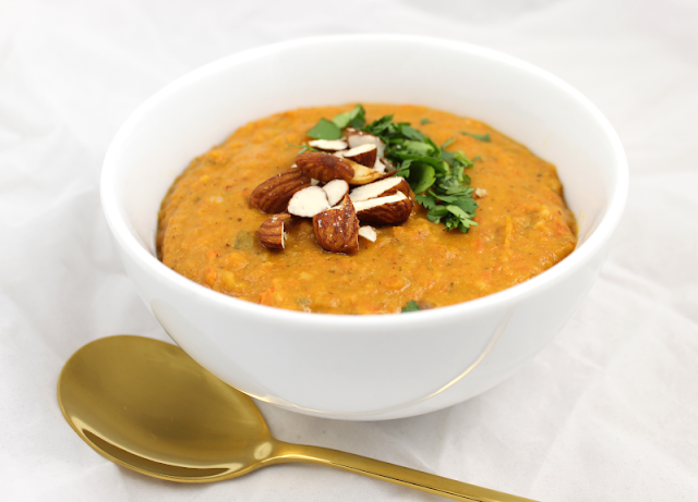 Thai-Inspired Roasted Carrot and Sweet Potato Soup