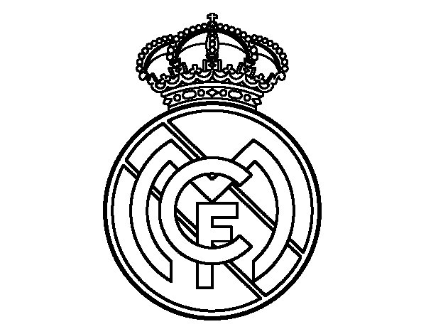 logo real madrid coloriage