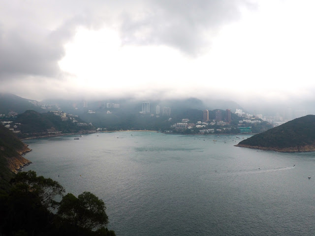 View from the upper cable car station in Ocean Park, Hong Kong