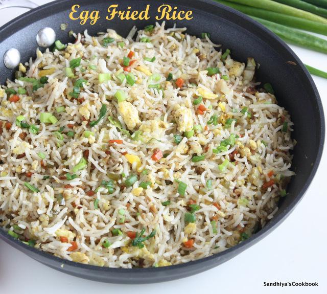 Sandhiyas cookbook egg fried rice restaurant style egg fried egg fried riceg ccuart Image collections