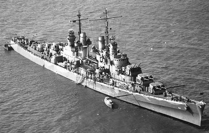 USS San Juan in June 1942, an Atlanta ...