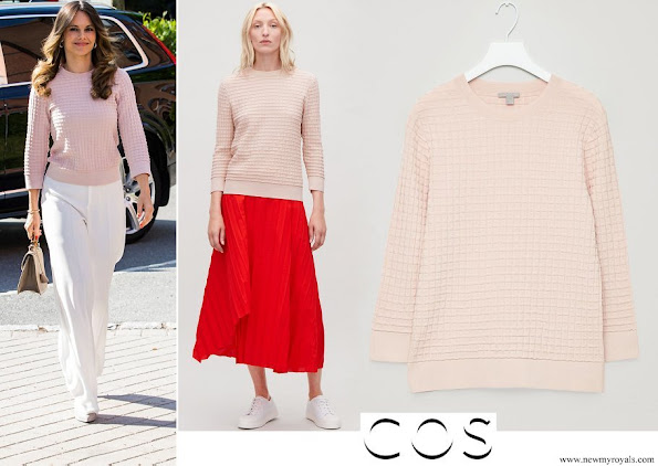 Princess Sofia wore Cos Waffle-Stitch Cotton Jumper - Rose Pink