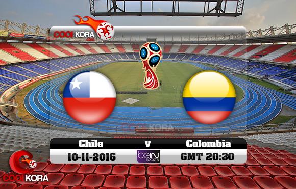 مشاهدة مباراة كولومبيا وأوروجواي اليوم 10-11-2016 تصفيات كأس العالم