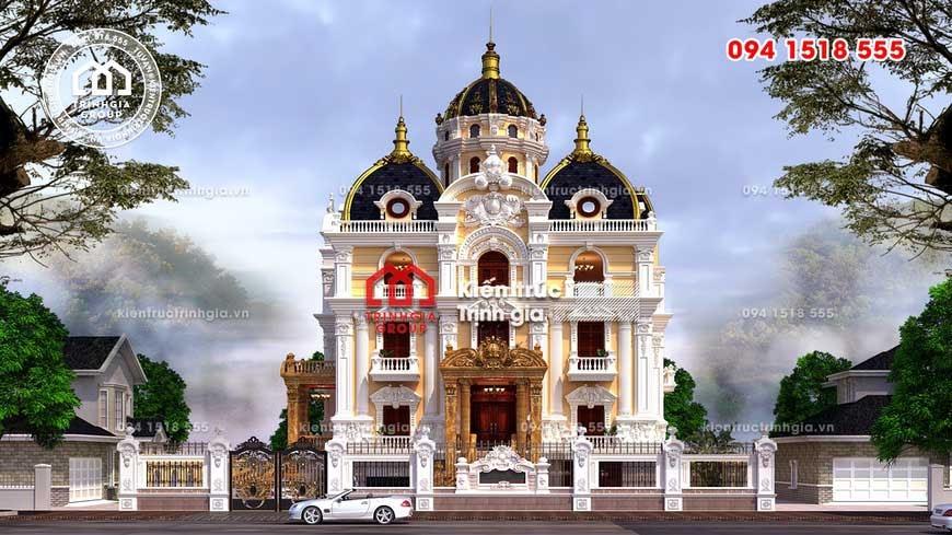 Mẫu biệt thự lâu đài 3 tầng kiểu Pháp kiến trúc cổ điển đẹp! - Ảnh 3