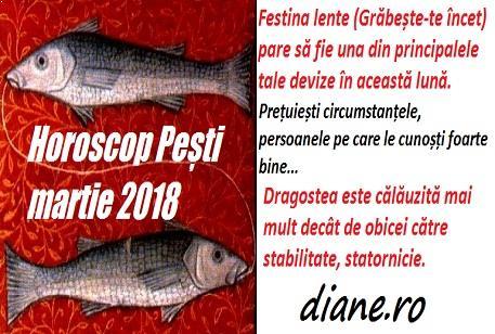Horoscop martie 2018 Pești