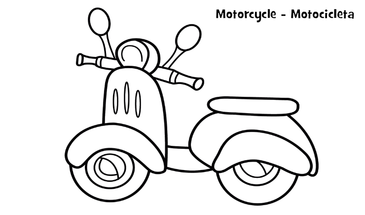 Mewarnai Gambar Sepeda Motor Vespa Aneka Mewarnai