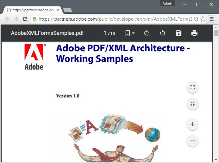 Try Material UI in Chrome PDF Viewer