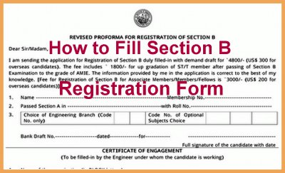 How To Fill Amie Section B Registration Form How To