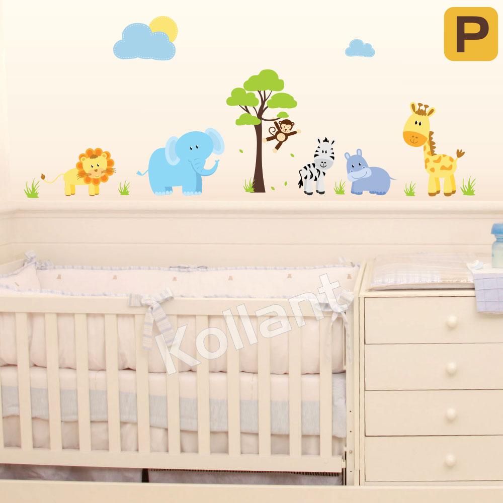 Adesivo para Quarto de Bebê Safári ~ Adesivos Quarto Bebe Masculino