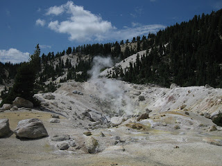 Sulfuric steam venting at Bumpass Hell, Lassen Volcanic National Park, California