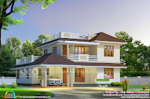 Cute Sloping Roof House 2680 Square Feet Kerala Home