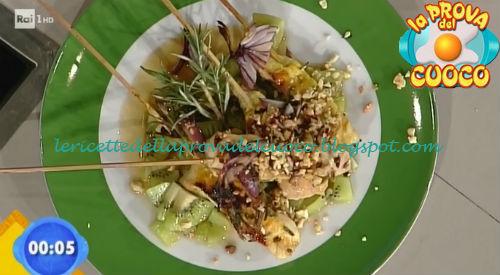 Spiedini di tacchino con salsa al kiwi piccante ricetta Piparo da Prova del Cuoco