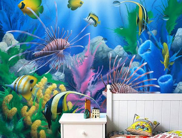 akvaario Tapetti koralli vedenalainen kala akvaario tapetti valokuva veistos