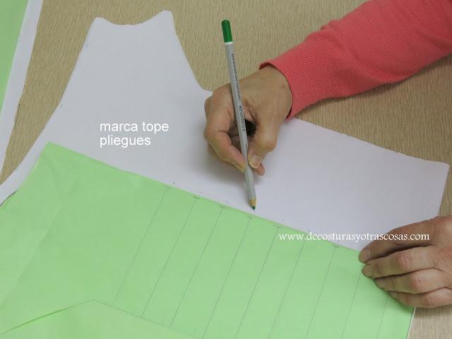 como traspasar marcas de patrón a tela