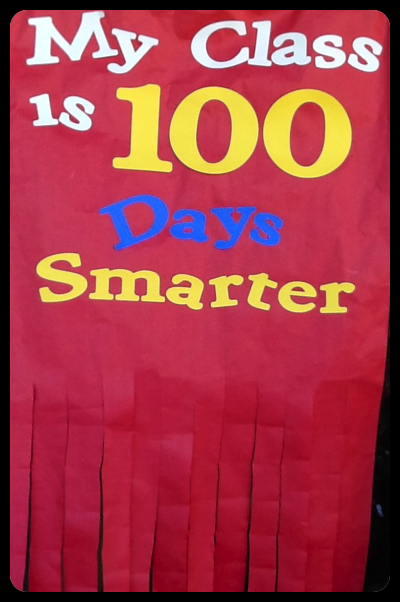 My class is 100 days smarter door banner