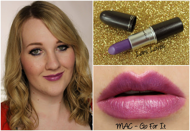 MAC Go For It lipstick swatch