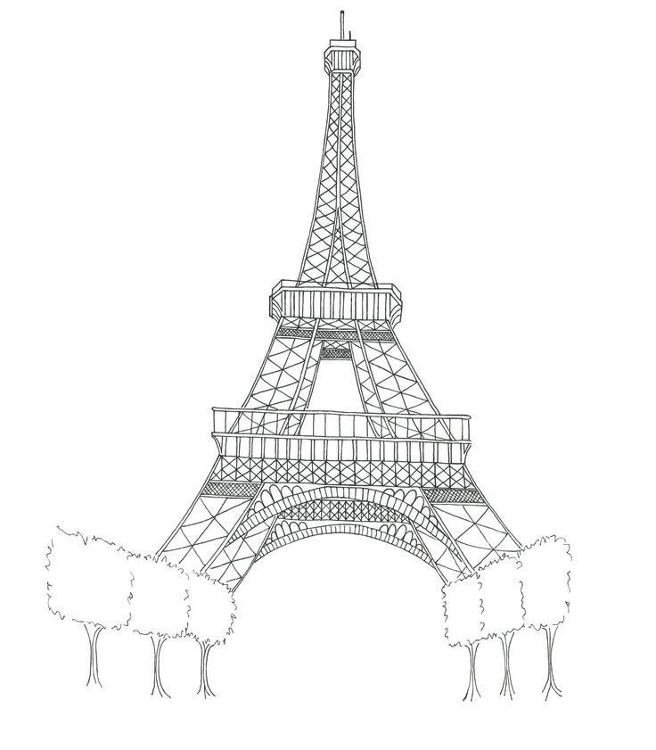 La torre eiffel para pintar en la pared Buscar con Google Ideas
