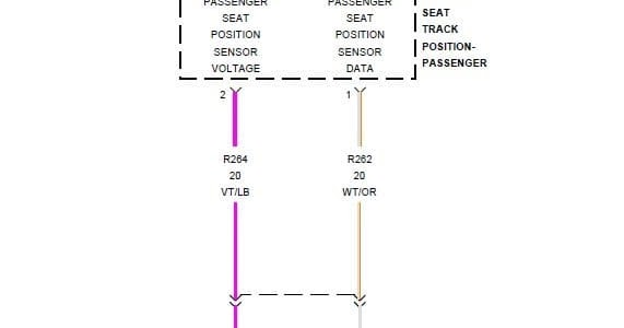 B1B93 Passanger Seat Track Position Sensor Circuit Low