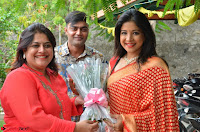 Sakshi Agarwal  in Orange Saree at Inauguration of Handloom And Handicraft exhibition ~  Exclusive 06.JPG