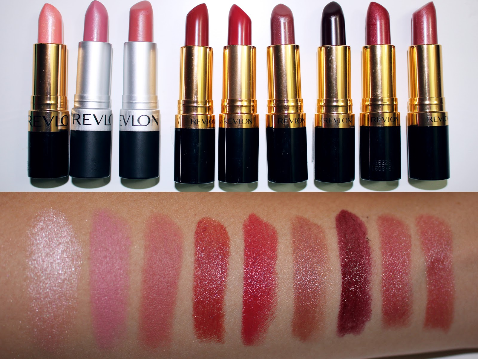 REVLON Super Lustrous Lipstick Set REVIEW/SWATCH   Revlon